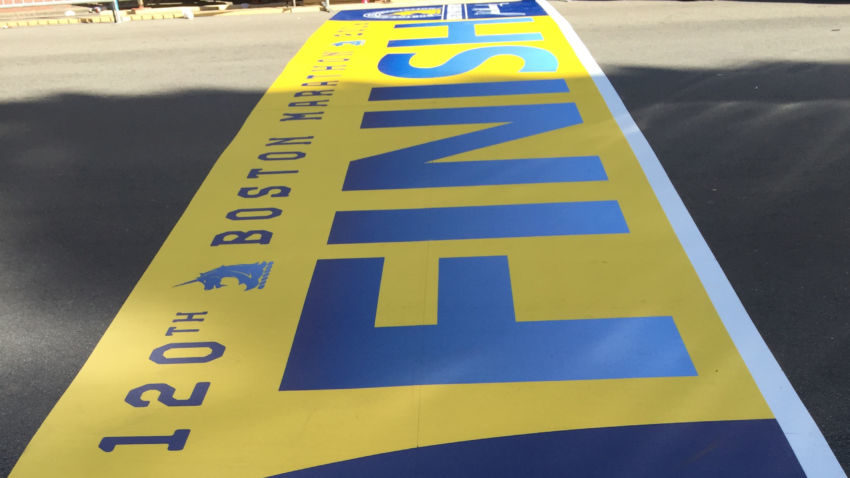 Boston Marathon Line, I've been there!