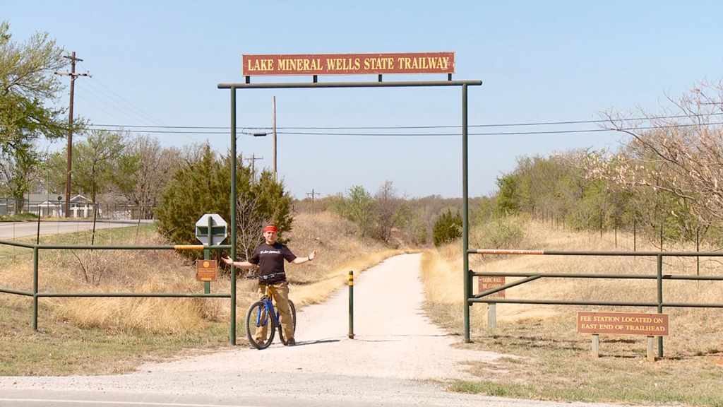 Biking at Mineral Wells